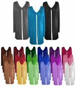 SOLD OUT! Comfy and Casual Solid Colors Plus-Size Slinky Tie Duster Jacket