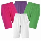 FINAL CLEARANCE SALE! Cotton Knit Elastic Waist Shorts Plus Size Supersize  Many Colors!!! 0x 3x 5x 6x 7x