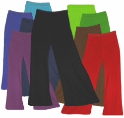CLEARANCE! Plus Size Solid Color Poly/Cotton Jersey Knit Stretchy Wide Leg Palazzo Pants with Elastic Waist XL 0x 2x 6x