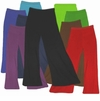 CLEARANCE! Plus Size Solid Color Poly/Cotton Jersey Knit Stretchy Wide Leg Palazzo Pants with Elastic Waist XL 6x