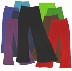 FINAL CLEARANCE SALE! Plus Size Solid Color Poly/Cotton Jersey Knit Stretchy Wide Leg Palazzo Pants with Elastic Waist XL 6x