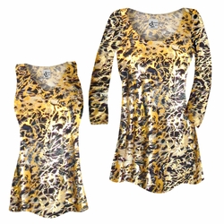 SOLD OUT! SALE! Customizable Black Ornate With Gold Metallic Slinky Print Plus Size & Supersize Short or Long Sleeve Shirts - Tunics - Tank Tops - Sizes Lg XL 1x 2x 3x 4x 5x 6x 7x 8x 9x