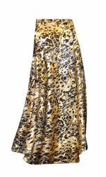 SOLD OUT! SALE! Customizable Black Ornate With Gold Metallic Slinky Print Plus Size & Supersize Skirts - Sizes Lg XL 1x 2x 3x 4x 5x 6x 7x 8x 9x