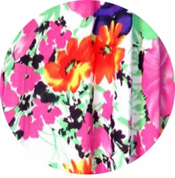 SOLD OUT! SALE! Customizable Bright Pink & Orange Bellflowers Floral Slinky Print Plus Size & Supersize Jackets & Dusters - Sizes Lg XL 1x 2x 3x 4x 5x 6x 7x 8x 9x