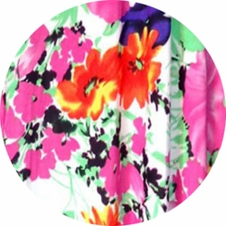 SALE! Customizable Bright Pink & Orange Bellflowers Floral Slinky Print Plus Size & Supersize Jackets & Dusters - Sizes Lg XL 1x 2x 3x 4x 5x 6x 7x 8x 9x