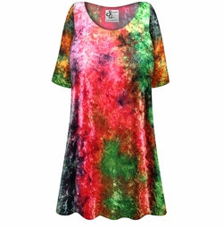 SALE! Customizable Crush Velvet Tie Dye Print Plus Size & Supersize Short or Long Sleeve Shirts - Tunics - Tank Tops - Sizes Lg XL 1x 2x 3x 4x 5x 6x 7x 8x 9x