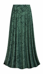 SALE! Customizable Green Antique Velvet Plus Size & Supersize Skirt - Sizes Lg XL 0x 1x 2x 3x 4x 5x 6x 7x 8x 9x