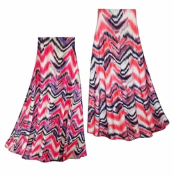SOLD OUT! SALE! Customizable Groovy Zig Zags Slinky Print Plus Size & Supersize Skirts - Sizes Lg XL 1x 2x 3x 4x 5x 6x 7x 8x 9x