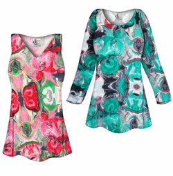 SOLD OUT! SALE! Customizable Tango Slinky Print Plus Size & Supersize Short or Long Sleeve Shirts - Tunics - Tank Tops - Sizes Lg XL 1x 2x 3x 4x 5x 6x 7x 8x 9x
