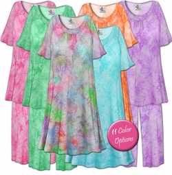 SALE! Customizable Tie Dye Plus Size & SuperSize Muumuu - Moo Moo Dress or Pajama Pant Set 0x 1x 2x 3x 4x 5x 6x 7x 8x 9x