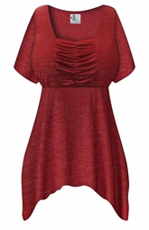 SOLD OUT! SALE! Customizable Wine with Glimmer Lines Plus Size & Supersize Babydoll Top 0x to 8x