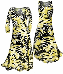 sSOLD OUT!!!!!!!!! SALE! Customizable! Yellow & Black Abstract Print Slinky Plus Size & Supersize Standard or Cascading A-Line or Princess Cut Dresses & Shirts, Jackets, Pants, Palazzo's or Skirts Lg to 9x