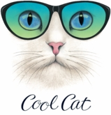 SOLD OUT! Cute Cool Cat Plus Size & Supersize T-Shirts S M L XL 2x 3x 4x 5x 6x 7x 8x (Lights Only)