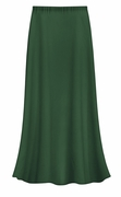 CLEARANCE! Dark Green Color Slinky Plus Size Supersize Skirt 1x