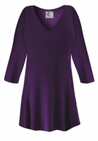 CLEARANCE! Dark Purple Slinky Plus Size & Supersize Shirt XL 7x