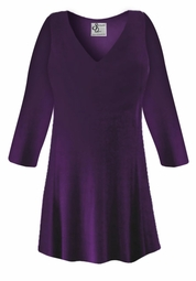 FINAL CLEARANCE SALE! Plus Size Purple Slinky Top Lg
