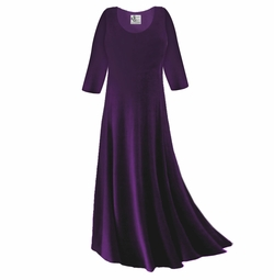 SOLD OUT! Dark Purple Slinky Plus Size & Supersize Sleeve Dress