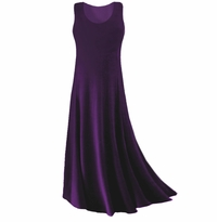 SOLD OUT! CLEARANCE! Purple Slinky Plus Size & Supersize Tank Dress XL