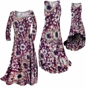 SOLD OUT! Dark Purple Wine & Sand Slinky Plus Size & Supersize Standard Tank Dress