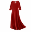 CLEARANCE! Plus Size Dark Red Slinky Sleeve Dress 5x