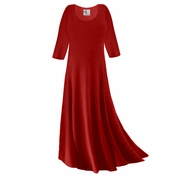 SOLD OUT! Plus Size Dark Red Slinky Sleeve Dress 5x