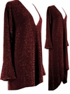 CLEARANCE! Dazzling Burgundy Glimmer Plus Size A/Line Shirts & Jackets 0x