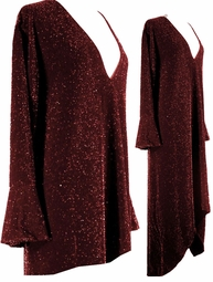 SOLD OUT! CLEARANCE! Dazzling Burgundy Glimmer Plus Size A/Line Shirts & Jackets 0x