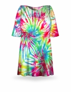 CLEARANCE! Double Rainbow Tie Dye Plus Size T-Shirt 7x