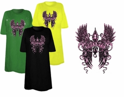 SOLD OUT! SOLD OUT! FINAL SALE! Dreamer Fleur With Wings Plus Size & Supersize T-Shirts 5xl