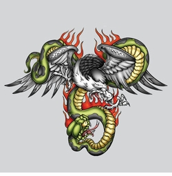 SALE! Eagle Snake Plus Size & Supersize T-Shirts S M L XL 2x 3x 4x 5x 6x 7x 8x (All Colors)