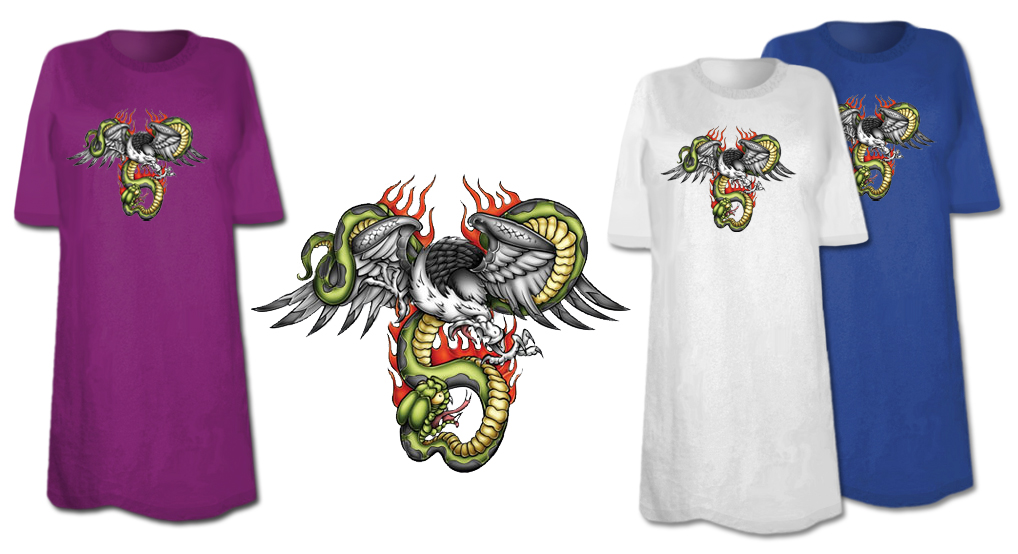 Sale Eagle Snake Plus Size Supersize T Shirts S M L Xl