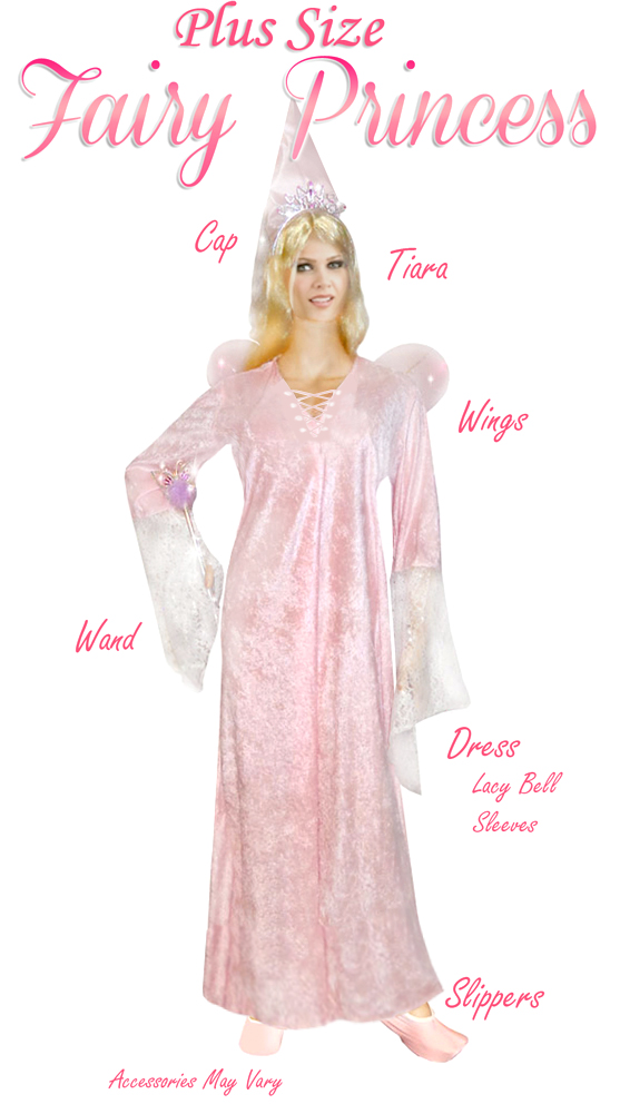 13bc525f7 Fairy Princess Pink Plus Size Supersize Halloween Costume + Add Accessories!  Size 3x