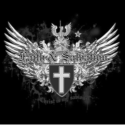 SOLD OUT! Faith & Salvation Cross Wings Crest Plus Size & Supersize T-Shirts  S M L XL 2x 3x 4x 5x 6x 7x 8x (All Colors)