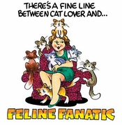 SALE! Feline Fanatic! Plus Size & Supersize T-Shirts S M L XL 2x 3x 4x 5x 6x 7x 8x (Lights Only)