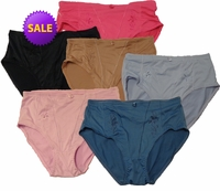 SOLD OUT! Flower Stitch Spandex Blend High Rise Panty Plus Size Gray Pink Lavender Hot Pink or Brown Sizes 13 14 4XL