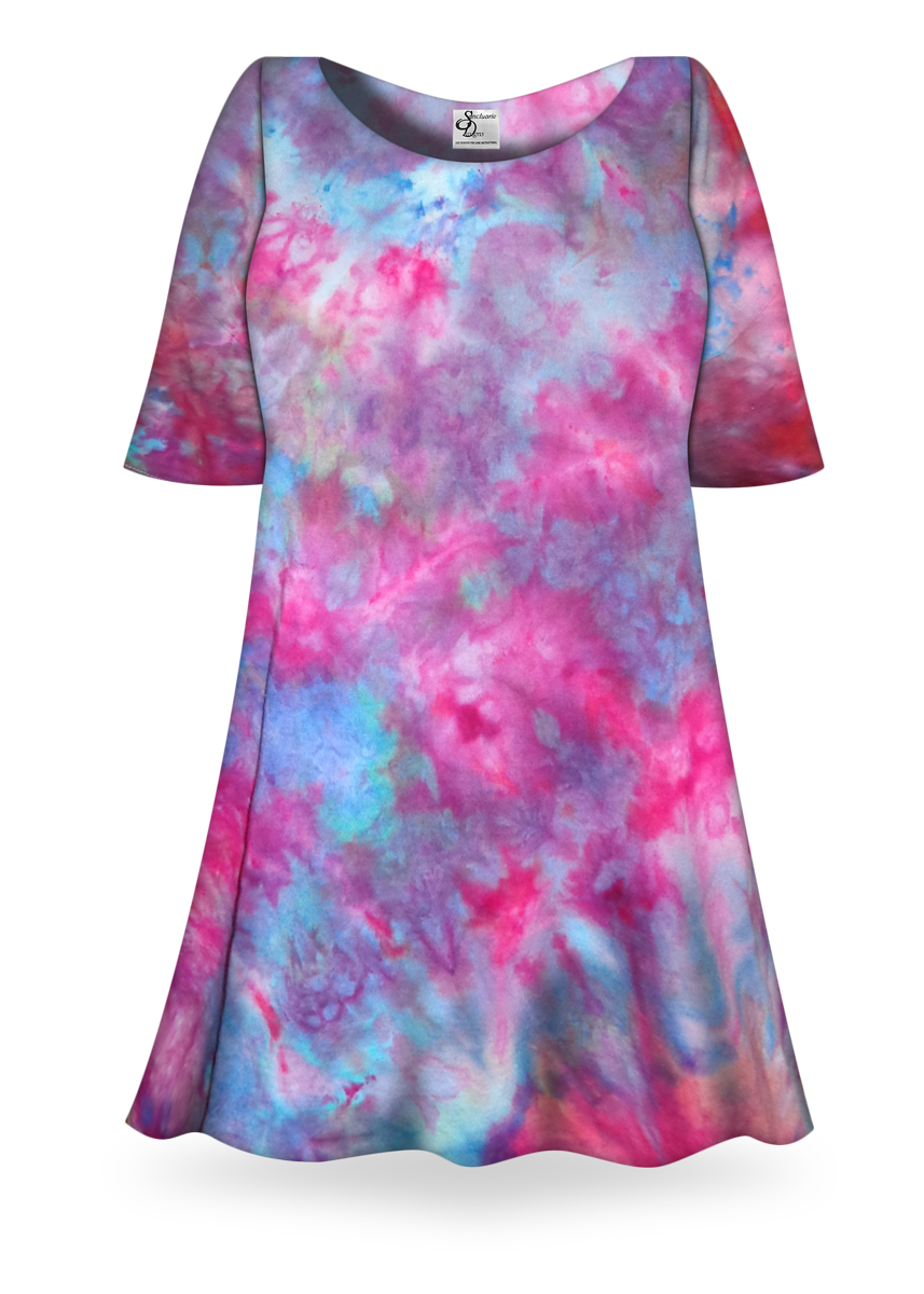 Sale Fluorescent Ice Tie Dye Plus Size Supersize X Long
