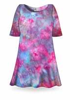 SALE! Fluorescent Ice Tie Dye Plus Size & Supersize X-Long T-Shirt 0x 1x 2x 3x 4x 5x 6x 7x 8x