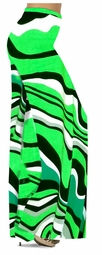 SOLD OUT! SALE! Fresh Green Swirls Slinky Print Special Order Plus Size & Supersize Pants