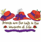 SALE! Friends Are The Hats... Plus Size & Supersize T-Shirts L XL 1 2x 3x 4x 5x 6x 7x 8x (Lights Only)