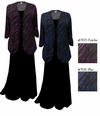 SOLD OUT! Fuschia or Blue Streaks Plus Size & Supersize Sweater Duster Jacket
