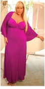 SALE! Customizable 2-Piece Fuschia Pink/Purple Slinky - Plus Size & SuperSize Princess Seam Dress Set 0x 1x 2x 3x 4x 5x 6x 7x 8x 9x