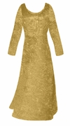 SOLD OUT! SALE! Gold Crush Velvet Plus Size & Supersize Sleeve Dress 4x