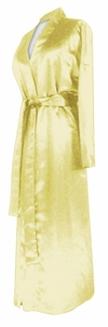 CLEARANCE! Plus Size Yellow Lightweight Satin Robe 0x 6x 7x 8x