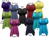 CLEARANCE! Gorgeous Colorful Slinky Solid Colors Supersize & Plus Size Babydoll Tops 0x 1x 2x 3x 8x