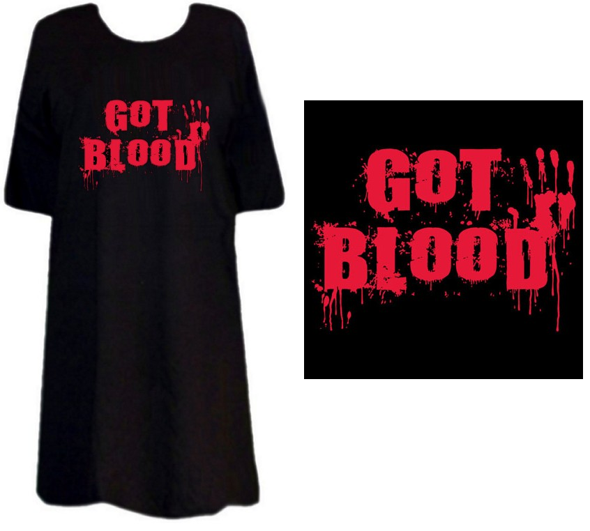 Sale Got Blood Plus Size Supersize S M L Xl 2x 3x 4x 5x