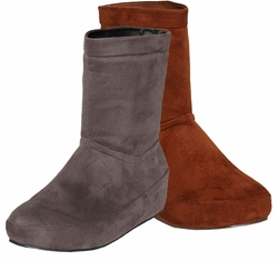 SOLD OUT! Shoe Sale! Gray or Cognac Microsuede Platform Wide Width Boot Size
