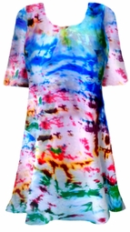 SALE! Color Splash Tie Dye Plus Size & Supersize X-Long T-Shirt 0x 1x 2x 3x 4x 5x 6x 7x 8x