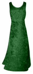 CLEARANCE! Plus Size Green Crush Velvet Tank Dress 0x 8x