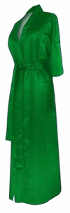 FINAL CLEARANCE SALE! Green Lightweight Plus Size Satin Robe 0x