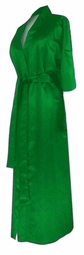 CLEARANCE! Green Lightweight Plus Size Satin Robe 0x